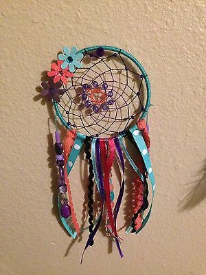 dream catcher blue, pink, black, and purple 4 inch ring