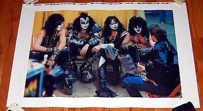 KISS Creatures Backstage Interview Proof Poster Gene Simmons Carr Vinnie Vincent