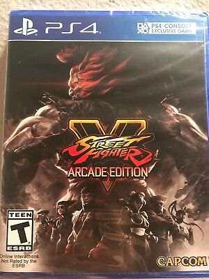 Street Fighter V Arcade Edition PS4 New Factory Sealed Fast Ship w Tracking