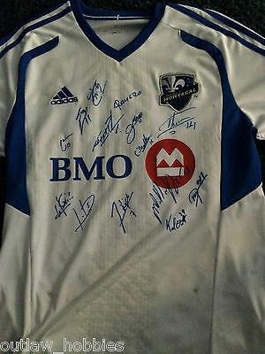 2013 Montreal Impact 15x Team Signed Autographed 2014 MLS Soccer L Jersey COA