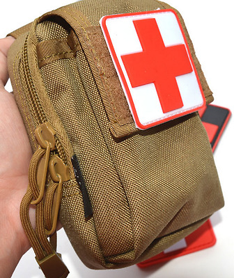 Military Medic Red Cross Hospital Logo Sew Iron On Patch Shirt