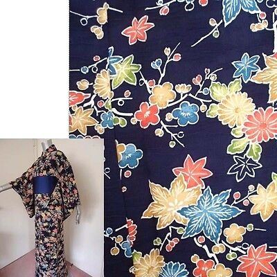Machine Washable Blue w/Flower Design Komon Kimono