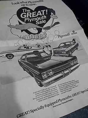 plymouth poster ad baracuda roadrunner fury 426 hemi photo 440 win you over