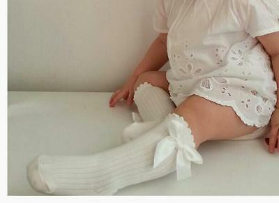 Baby Girl's Knee High Socks with Bow - 0-4 Years