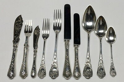 GERMAN SILVER Neo Classical CUTLERY Service 18 Qty 175 1910 Arnold Sterling