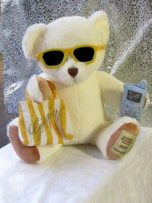 "GIORGIO BEVERLY HILL 2011 Collectible BEAR  Plush Doll  11"" Advertising Perfume"