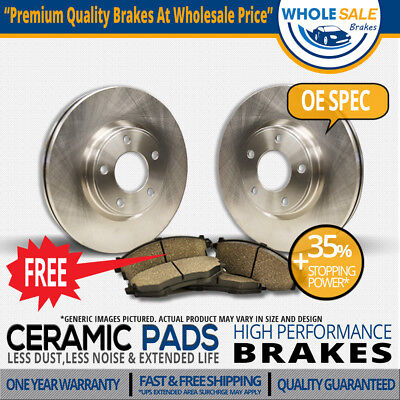 Front Kit|O-Series|2 Brake Rotors|4 Ceramic Pad|A4 32L 20T CABRIOLET|5Lug