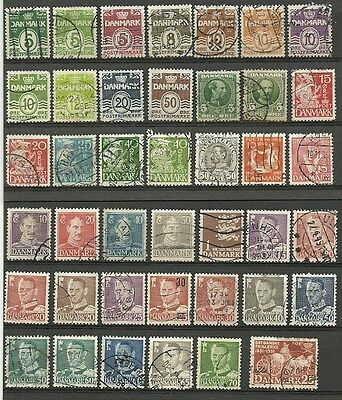 Denmark used lot/collection 1912-84 **2 scans**