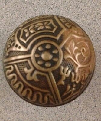 Beautiful Antique Victorian Eastlake Brass Bronze Door Knob