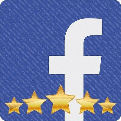 Buy 100 Facebook Fanpage 5 Star Ratings Reviews  - FAST DELIVERY - Genuine Sell