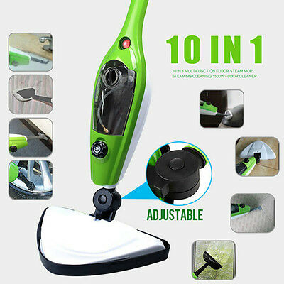 Steam Mop Floor Home Kitchen Cleaner Handheld Steamer Multi-Purpose Pads Include