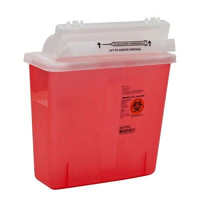 SharpStar Red Base Horizontal Entry Lid Multi-purpose Sharps Container
