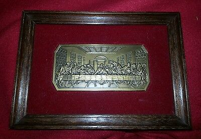 The Last Supper Medal by Fritz Weiland Heavy Solid Bronze Rare Jesus Religious
