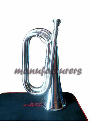 "Bugle New Design Bb Pitch Great""professional""sound W.case Chrome Finish"