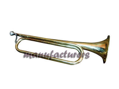 "Trumpet Bugle Bb Pitch""brass Made""brass Finish Nice Sound With Case"