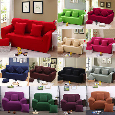 Elastic Stretch Sofa Covers 1 2 3 4 Seater Removable Protector Couch Slipcover