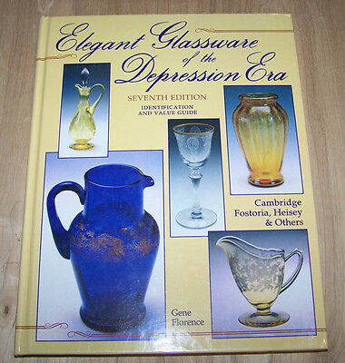 Elegant glassware from the Depression era...  guide book ..238 pages hardcover
