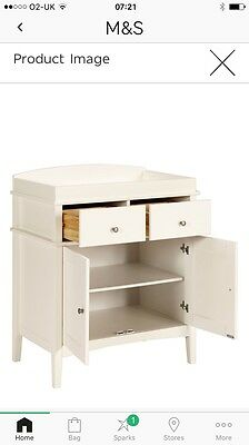 M&S Baby Changing Unit, Ivory. Excellent Condition
