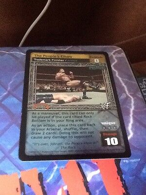 WWF WWE  Raw Deal Survivor Series 1.1 Ccg Ultra Rare Foil The People's Elbow
