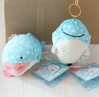 SAN-X Jinbesan Jinbei Whale Bag Charm Plush Stuffed Japan Smile Dots