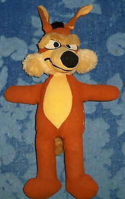 Looney Tunes WILE E. COYOTE Plush (1971, Mighty Star)