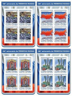 Z08 ST17212c Sao Tome and Principe 2017 First Russian Railway MNH Mint