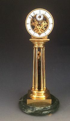 Skeleton Clock in Ormolu Gilded Bronze after William Smith