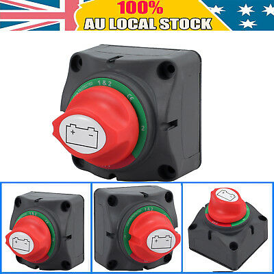 24V BATTERY MASTER SWITCH, BOAT MARINE CARAVAN DUAL SYSTEM ISOLATOR 4positions