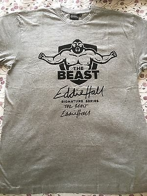 Rare Eddie Hall signed Official T-shirt Worlds Strongest Man Winner 2017 New