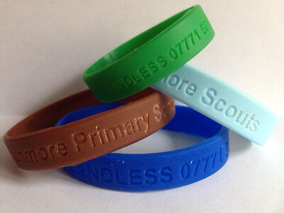 Medical and allergy wristbands personalised in various colours and sizes