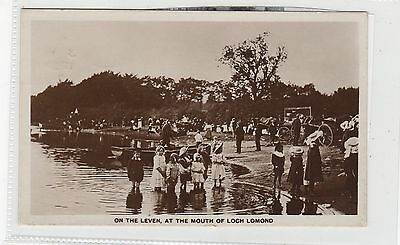 ON THE LEVEN AT THE MOUTH OF LOCH LOMOND: Dunbartonshire postcard (C27418)