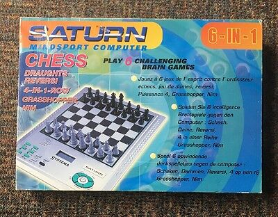 Systema Saturn Mindsport Computer 6 in 1 - Chess, Draughts  Complete FREE UK P&P