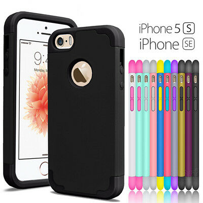 Shockproof Armor Hybrid Rugged Rubber Hard Case Cover For iPhone 5/5S/SE