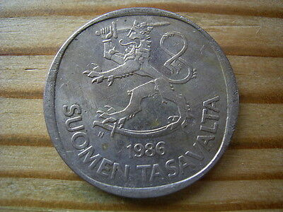1986 Finland 1 Marrka Coin Collectable
