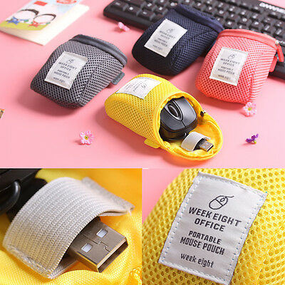 Portable Storage Travel Notebook USB Mouse Protective Case Carrying Pouch Bag