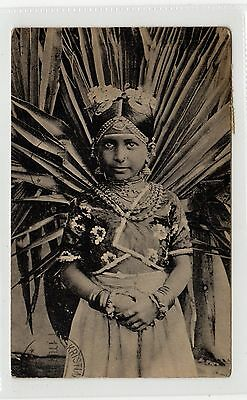 JAFFNA TAMIL CHILD: Ceylon postcard sent to Norway (C27578)