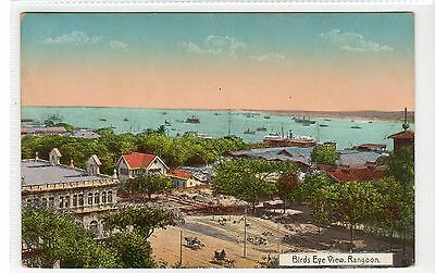 BIRD'S EYE VIEW, RANGOON: Burma postcard (C27234)