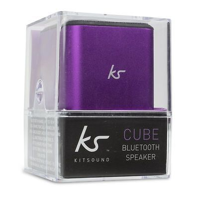 KitSound Cube Small Portable Bluetooth Speaker Purple