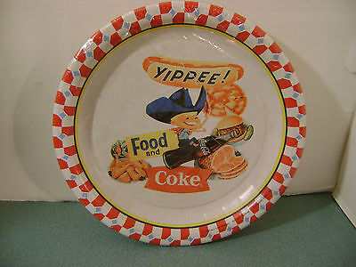 Coca Cola Party Plates, 8 3/4 Inch Diameter, Sealed Pkg. of 10