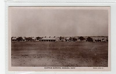 KHARTOUM BARRACKS, NOWSHERA NWFP: India postcard (C27986)