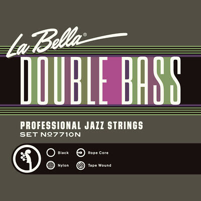 La Bella 7710N Double Bass Black Nylon Tape Wound Professional Jazz Strings