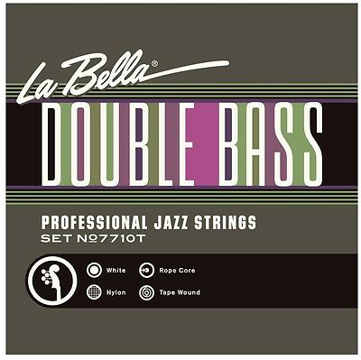 La Bella 7710T Double Bass White Nylon Tape Wound Professional Jazz Strings