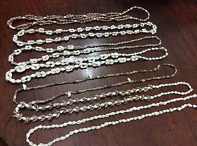 Vintage Lot of shell lei necklaces 7 beach party luau