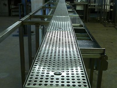 Stainless steel peanut rail complete with perforated inserts