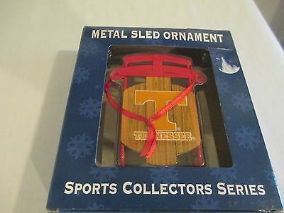 Tennessee Volunteers Metal Sled Ornament - Sports Collector Series