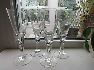 Dartington Sharon Large 22Cm Wine Glasses X 4 .. Free Postage
