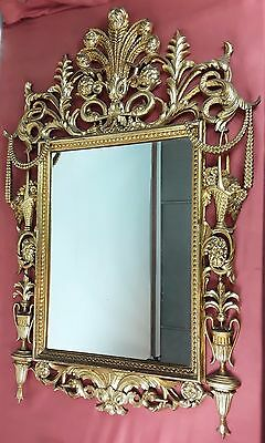 Beautiful Mirror Luis Xvi. Wood Carved And Gilded. Spain. Circa 1930.