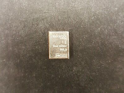 10 X 1 Gram Pure Solid Silver Valcambi Bullion Bar