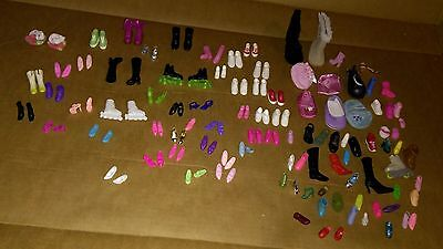 Barbie Shoe Lot Boots Skates Sneakers Heels & A Single Mix Match Shoe Lot Also!