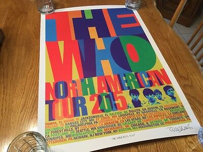 The Who Hits 50 North American Tour 2015 Signed Poster
